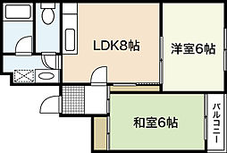 広島県広島市西区天満町の賃貸マンションの間取り