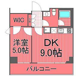 ポルトパルティーレ横浜[2階]の間取り