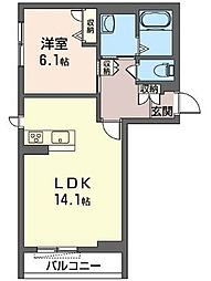 (仮)下大島町マンション[2階]の間取り