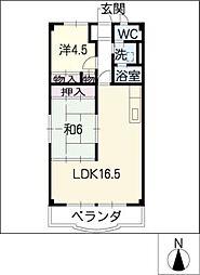 フォレストマンション[3階]の間取り