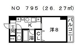 ADORER (アドレ)[203号室号室]の間取り
