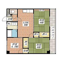 ハイツ香花園[2階]の間取り