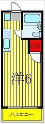 ツジハイム II[202号室]の間取り