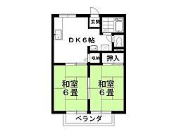アジサイハイツA棟[203号室]の間取り