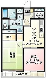 東京都世田谷区経堂1丁目の賃貸マンションの間取り