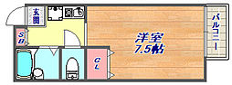 コスモメゾン岡本[2階]の間取り