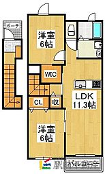 ルート3&MY6[2階]の間取り