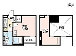 大阪府大阪市平野区西脇4丁目の賃貸アパートの間取り