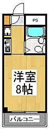 カミヤハイツ[1階]の間取り