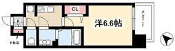 アステリ鶴舞トゥリア 15階1Kの間取り