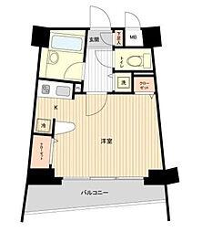 東京都新宿区中落合2の賃貸マンションの間取り