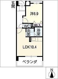 瑠璃光ビル[5階]の間取り