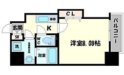 DwellingASAHI 3階1Kの間取り