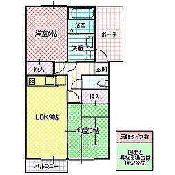 シャトレ・モリヤマ D[101号室号室]の間取り