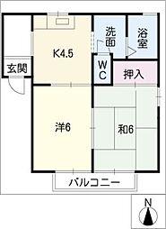 ディアス栗の木A棟[1階]の間取り
