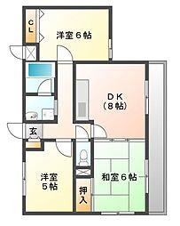 アペルI[2階]の間取り