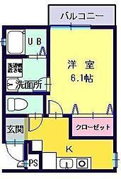 Casa Fujimi[303号室]の間取り