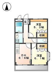 エスポワール青山[2階]の間取り