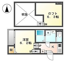 ポンテ志賀本通[2階]の間取り