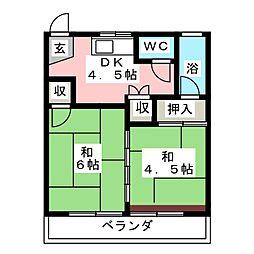 丸米コーポ[2階]の間取り