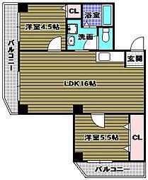 ステーションホーム[2階]の間取り