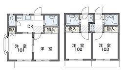 東戸塚第2[1階]の間取り