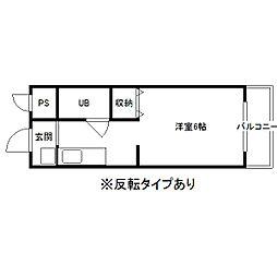 オービスビル2[2階]の間取り