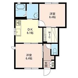レジデンス桜123 B[1階]の間取り