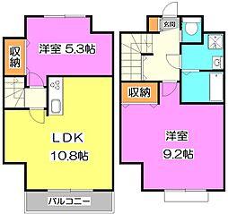 [テラスハウス] 東京都練馬区下石神井2丁目 の賃貸【/】の間取り