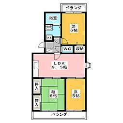 メゾン・ド・エソールI[1階]の間取り