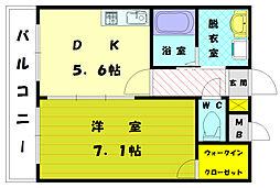 アムールKANKI[2階]の間取り