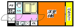 イマザキマンション・エヌワン 602号室[6階]の間取り