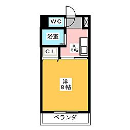 愛知県名古屋市中村区高道町3丁目の賃貸マンションの間取り