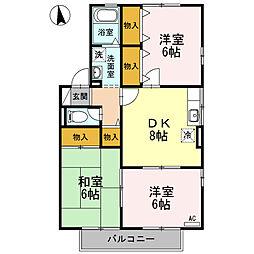 ヴェルドミールMASA B棟[1階]の間取り