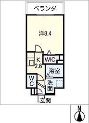 メゾン加納栄町通E 4階1SKの間取り
