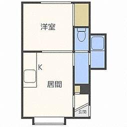 北海道札幌市北区北三十四条西6丁目の賃貸アパートの間取り