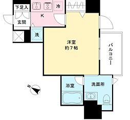 東京メトロ半蔵門線 半蔵門駅 徒歩2分の賃貸マンション 7階1Kの間取り
