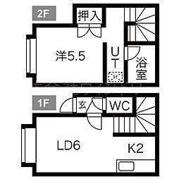 北海道札幌市東区北四十条東7丁目の賃貸アパートの間取り