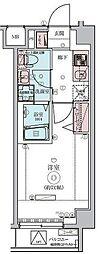 東急田園都市線 鷺沼駅 徒歩3分の賃貸マンション 2階1Kの間取り
