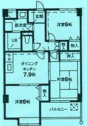 マンションライズ[2階]の間取り