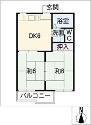 ファミール三武[2階]の間取り