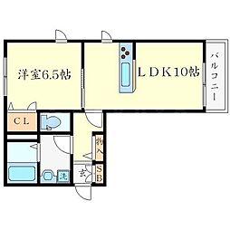 シャーメゾン豊川 B棟[2階]の間取り
