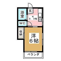 ハイツサンフラワー[2階]の間取り
