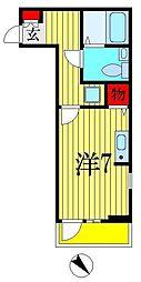 千葉県船橋市湊町1丁目の賃貸アパートの間取り