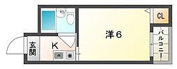 エスポアール豊秀I[3階]の間取り