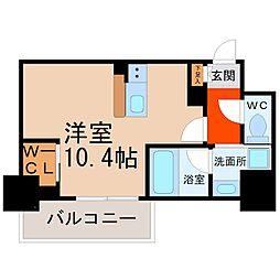 ハーモニーレジデンス名古屋新栄[306号室]の間取り