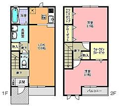 メゾン クレール B[1階]の間取り