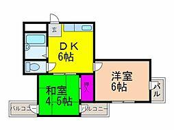 ハイツマドレ[3階]の間取り