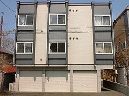 北海道札幌市東区北二十三条東12丁目の賃貸アパートの外観