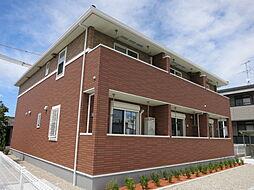 愛知県岡崎市小針町字城跡の賃貸アパートの外観